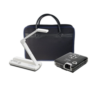 Elmo Mobile Document Presentation Kit - MO-1 Visualiser White, BOXi T-350 Mobile Projector, Soft Case)