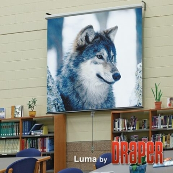 """Draper Luma 100"""" Diagonal Manual Projector Screen"""