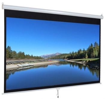 """iView 96"""" Diagonal Manual Projector Screen 1:1 Format"""