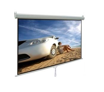Alpha MMS240 White Matte 240 x 240cm Manual Projector Screen