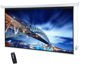 "DM TES-300 150"" Diagonal Electrical Projector Screen 4:3 Format"