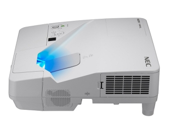 NEC UM351W 3500 Lumens WXGA Professional Ultra Short Throw Projector With Wall Mount