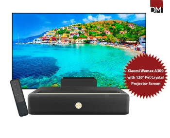 """Xiaomi Wemax A300 4K Laser Projector with 120"""" Pet Crystal Fixed Frame Projector Screen"""
