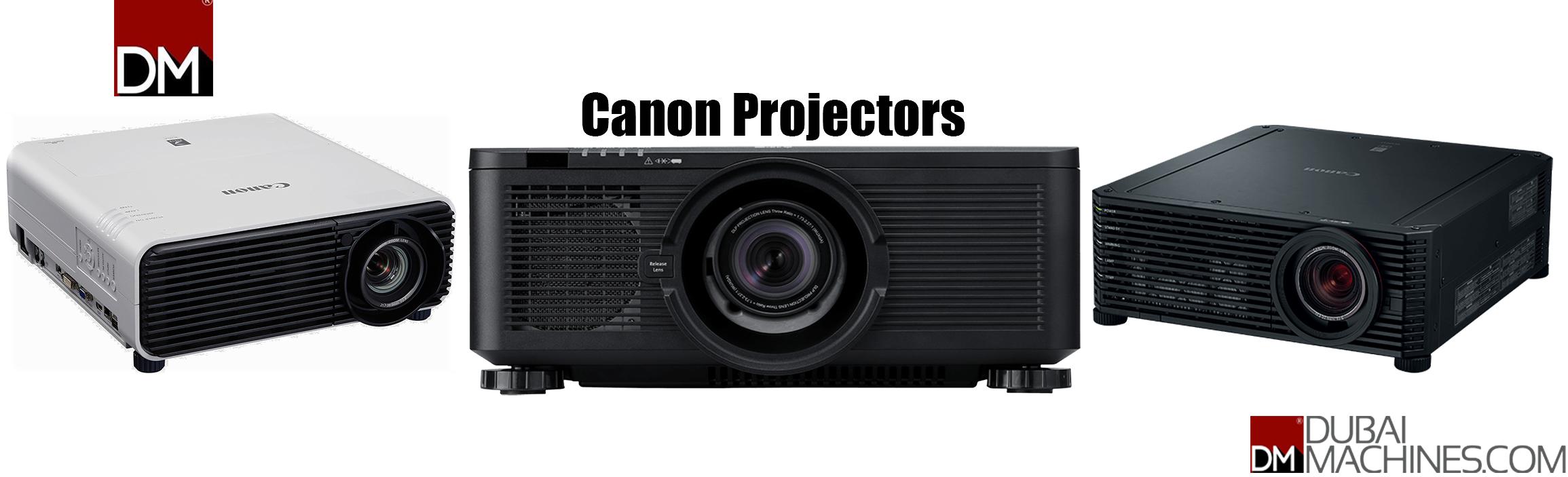 Canon projectors landing page